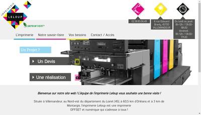 Site internet de Imprimerie Leloup