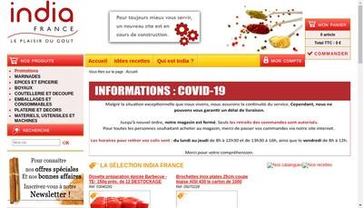 Site internet de India France