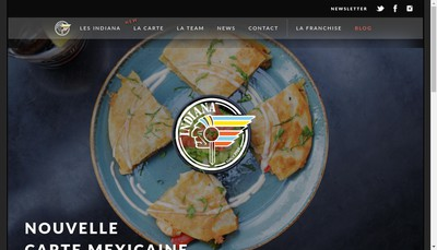 Site internet de Indiana Cafe