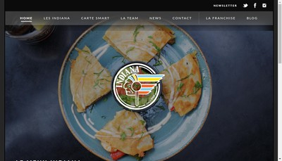 Site internet de Indiana Cafe