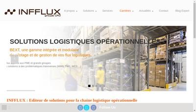 Site internet de Infflux Informatique et Flux