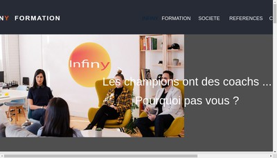 Site internet de Infiny Formation