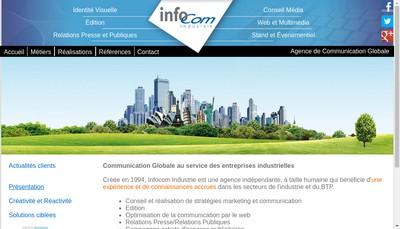 Site internet de Infocom Industrie