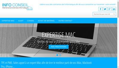 Site internet de Info Conseil