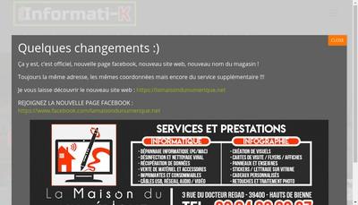Site internet de La Maison du Numerique