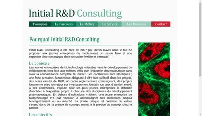 Site internet de Initial R&D Consulting