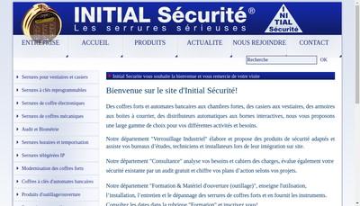 Site internet de Initial Securite