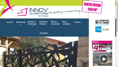 Site internet de Innov Ouvertures