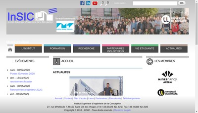 Site internet de Insic