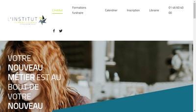 Site internet de Institut Francais de Formation des Professions du Funeraire - Iffpf