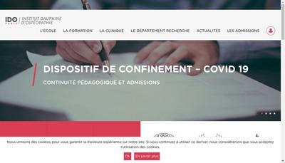 Site internet de Institut Dauphine Osteopathie