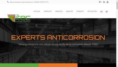 Site internet de Itec Materials