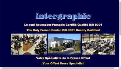 Site internet de Intergraphic