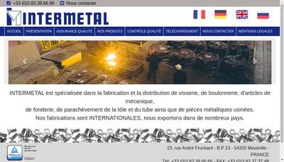 Site internet de Intermetal