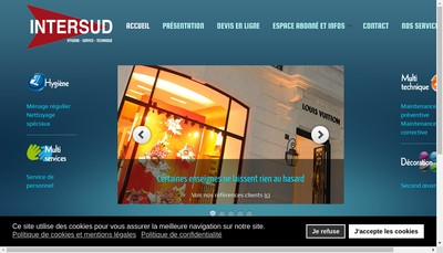 Site internet de Inter Sud et Cie