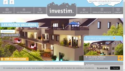 Site internet de Investim