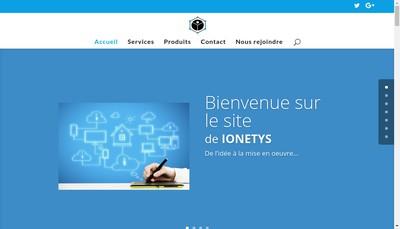 Site internet de Ionetys Developpement