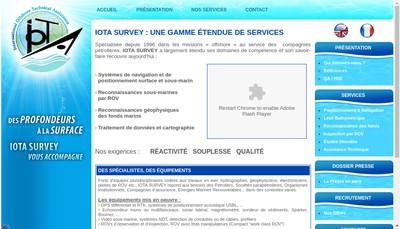 Site internet de Iota - Survey