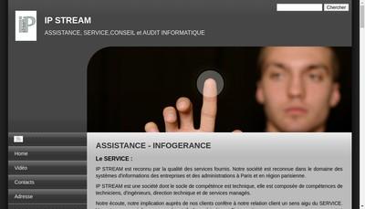 Site internet de Ip Stream