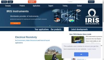 Site internet de Iris Instruments
