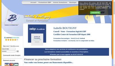 Site internet de Isabelle Boutigny