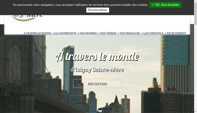 Site internet de Cooperative Isigny-Sainte Mere