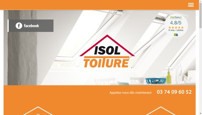 Site internet de Isol Toiture