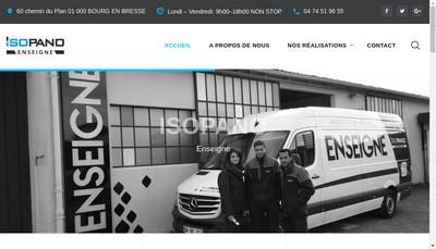 Site internet de Isopano Publicite