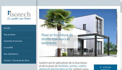 Site internet de Isotech