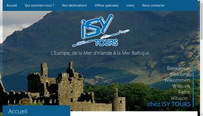 Site internet de Isy Tours