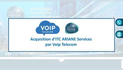Site internet de Itc Ariane Services