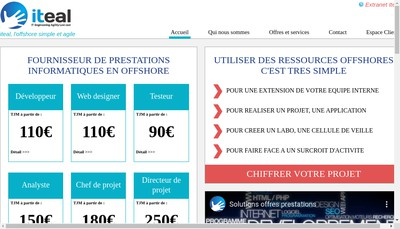 Site internet de Iteal