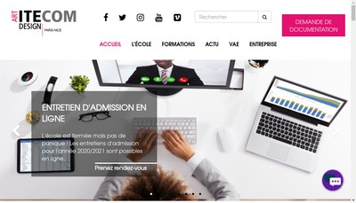 Site internet de Institut Technologies et Communication