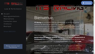 Site internet de ITS Racing