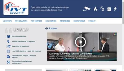 Site internet de Groupe Ivt Security