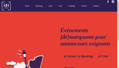 Site internet de Izi Event