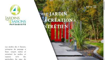 Site internet de Jardins des 4 Saisons