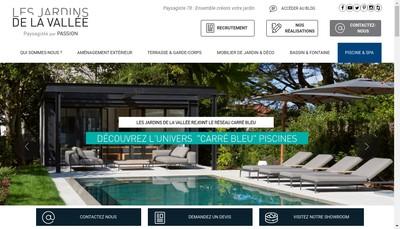 Site internet de Les Jardins de la Vallee