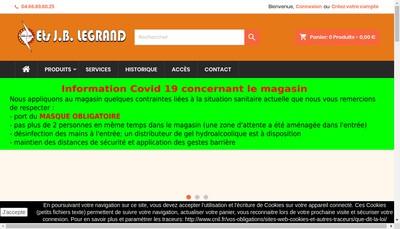 Site internet de Etablissements JB Legrand