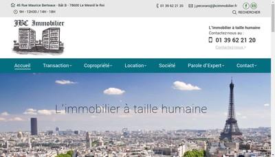Site internet de Jbc Immobilier