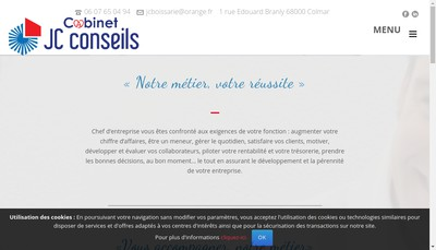 Site internet de Jc Conseils