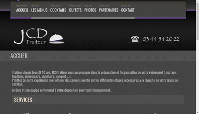 Site internet de JCD Traiteur