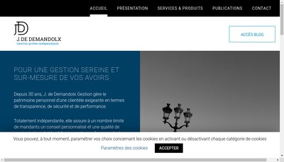 Site internet de J de Demandolx Gestion