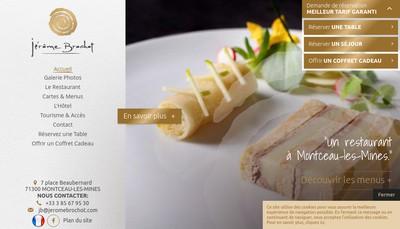 Site internet de Hotel le France-Restaur Jerome Brochot