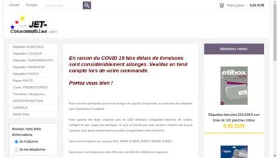 Site internet de Jet Boutique