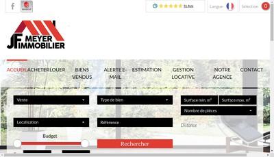 Site internet de Jf Meyer Immobilier