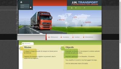 Site internet de SARL JH Transport