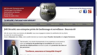 Site internet de JMK Securite