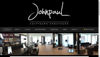 Site internet de Johnpaul Coiffeurs