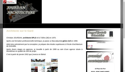 Site internet de C Jourdan Architecte DPLG